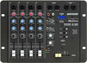 Mesa De Som Mixer 4 Canais Ciclotron Mxm4sd Controle Remoto