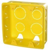 50 Caixa De Luz 4x4 + 25 Caixa 2x4 Tramontina Amarela