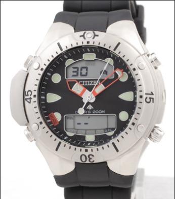 Relógio Citizen Aqualand Jp1060 Fundo Preto Em 12x S/juros