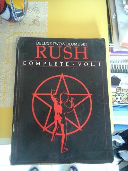 Rush Livro De Partituras E Letras
