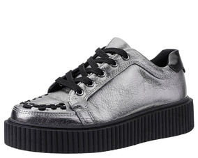 Zapatos Plateados Tuk A9224 Creepers Jeffrey Campbell Zara