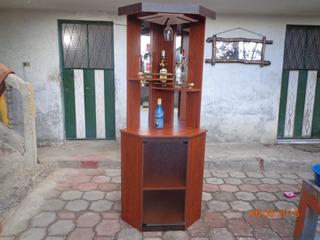 Mueble Bar Licorera Esquinero Con Espejo Vendo O Cambio