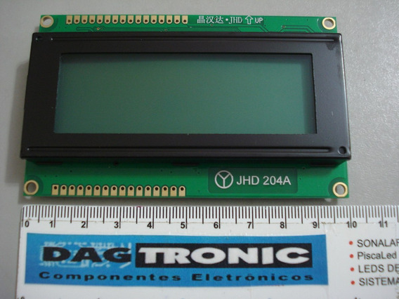 Display Lcd 20x4 Verde Dupla Pinagem Jhd204a Arduino
