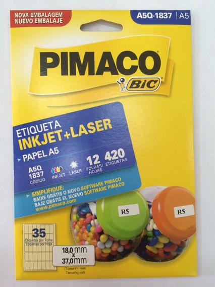 Etiqueta Pimaco A5q-1837 Com 12 Folhas Pimaco C/1 Unidade.