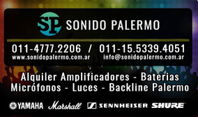 Alquiler Amplificadores - Baterias - Mic - Backline Palermo