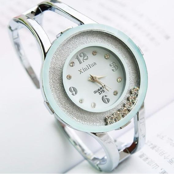 Relogio Feminino Quartzo Bracelete Branco/prata Bd1242