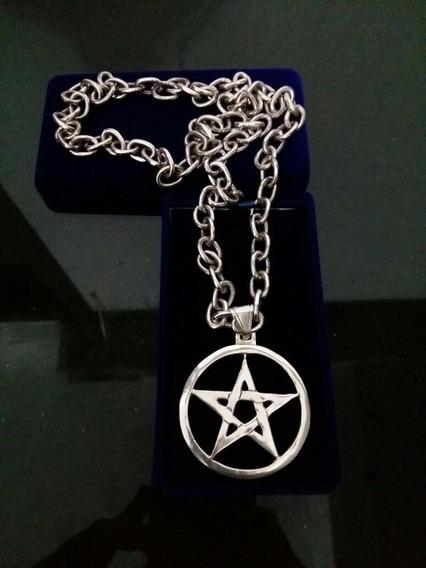 Pentagrama Magia Cerimonial Prata 925