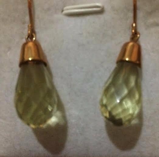 Belissimos Brincos/argola Green Gold Ouro 18 Kts