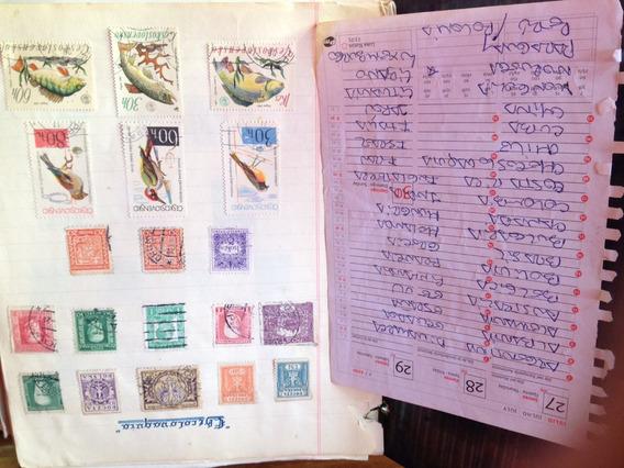 Colección De Estampillas De Diversos Países