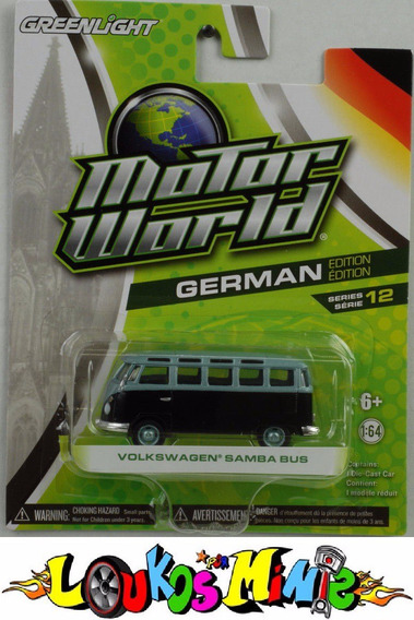 Greenlight Vw Samba Bus Kombi Motor World Borracha Lacrado