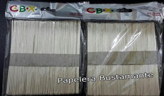 Palitos De Helado Natural X 50 Unidades Madera