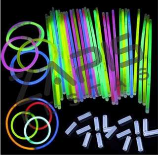 200 Pulseiras Festa Neon Glow Alto Brilho