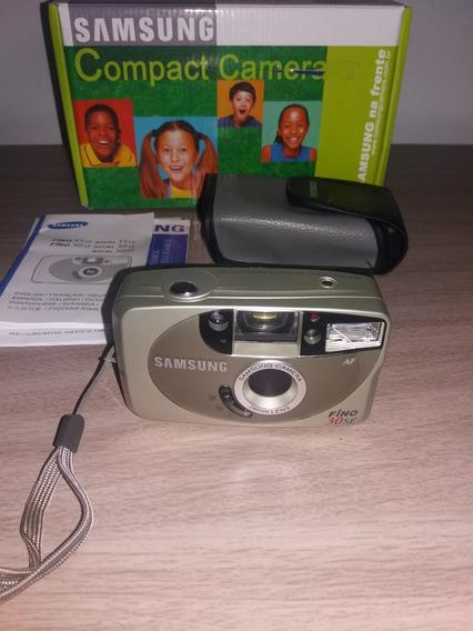 Câmera Compact Samsung Fino 30se, Com Caixa, Perfeito Estado
