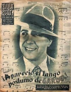 Apareció El Tango Póstumo De Carlos Gardel - Lámina 45x30 Cm