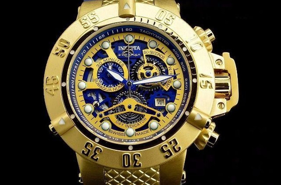 Invicta Subaqua Noma 3 Skeletonized 18k Gold Original