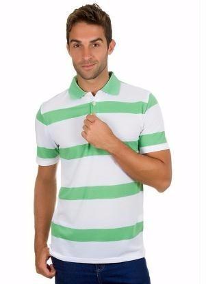 Camisa Polo Listras Promoção Masc. - Roupa P M G Gg