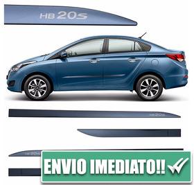 Friso Lateral Slim Hb20s 12 À 17 4 Peças Azul Sky Original