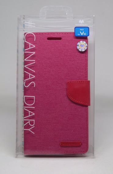 Funda LG V10 Mercury Goospery Canvas Diary Rosa