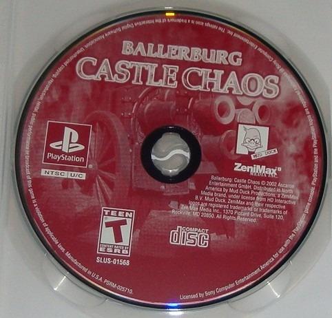 Ballerburg Castle Chaos Original Ps1 Cr $15