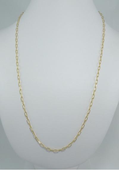 Corrente Cordão Masculino Cadeado Maciço 70 Cm Ouro 18k 750