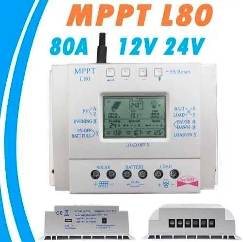 Controlador De Carga Solar 80a Mppt Para Painel Célula Solar