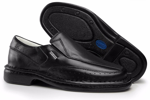 Sapato Anti Stress Diabético Até N 47 Couro Alívio Nas Dores