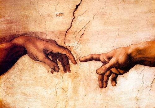 Imagen 1 de 4 de Litografía, La Creación De Adán, Miguel Ángel B. 40x50 Cm.