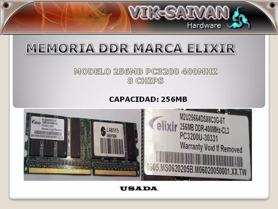 Memoria Ddr Elixir 256mb Pc-3200 400mhz 8 Chips 23