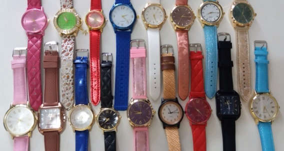 Relógios Masculinos E Femininos Kit C/15 + Caixas Atacado