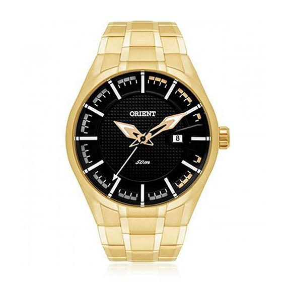 Relógio Masculino Orient Analógico Mgss1101 P1kx Dourado Com
