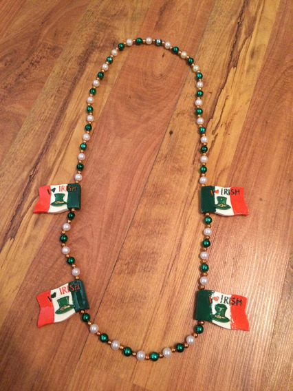 Padrisimo Collar St Patricks Festejos Resina 100% Original!!
