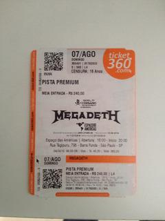 Ingresso Megadeth - Estação Das Américas Em São Paulo