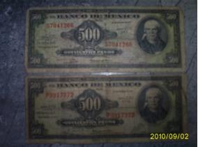 Dos Billetes De 500 Pesos Morelos