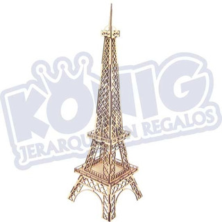 Rompecabezas 3d Mdf, Torre Eiffel Mini, Armable