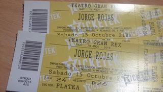 Entradas Jorge Rojas Gran Rex