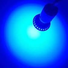 Lampara Led Gu10 Zurich 21led Luz Color Azul 50 Mil Hs Dur
