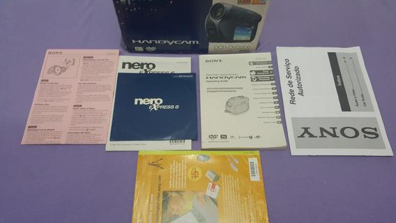 Caixa Manual Certificados Câmera Sony Dcr Dvd205 305 605