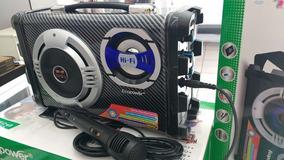 Caixa De Som Mp3/karaoke/entrada P/mic/fm