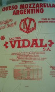 Muzzarella Vidal De 25 Kg