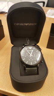 Reloj Armani Cronografo Black New In Box
