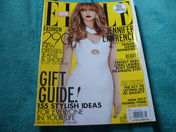 Revista Elle Jennifer Lawrence Na Capa E Reportagem Top