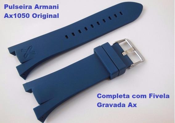 Pulseira Armani Ax1042 Exchange Ax1040 Adp Ax1050 Azul