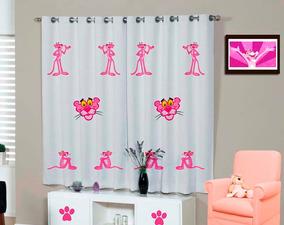 Cortina Pantera Cor De Rosa Pink Panther Infantil Geek