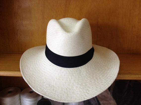 Sombrero De Paja Toquilla Ala Mas Ancha Que Los Normales