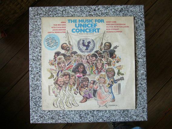 The Music For Unicef Concert Lp Compilado Musica Disco