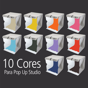 10 Fundos Coloridos Para Pop Up Studio 35 Kit Color