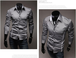 Camisa Importada De Luxo Social Pormoçao 100 Por 40
