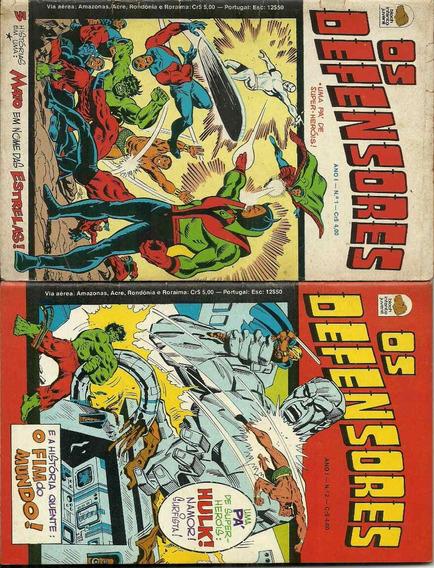 Coleção Bloch Defensores 1, 2, 3, 4 E 5 Thor Hulk Namor Dr E