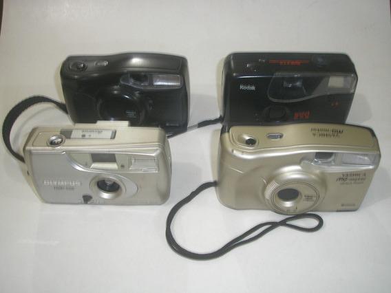 ( L - 270 ) Lote Com 04 Câmeras Fotográficas Para Restauro