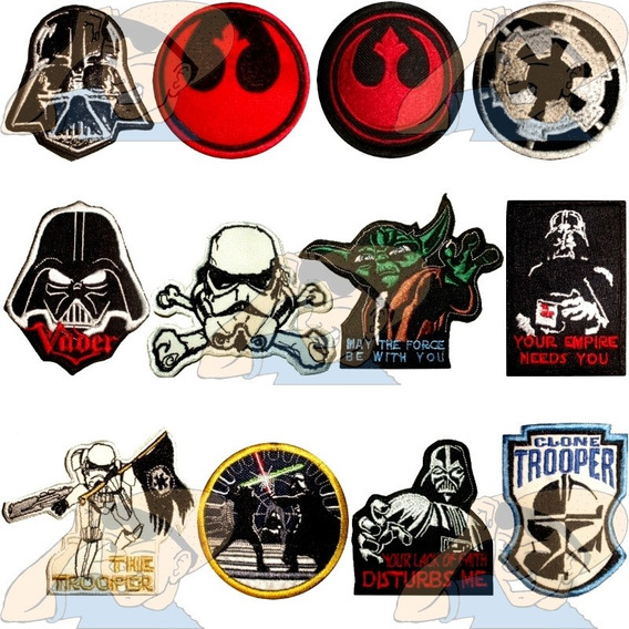 Parche Bordado Logos Y Personajes De Star Wars X Unidad Adr